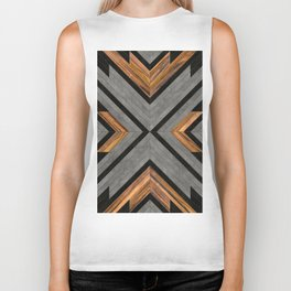 Urban Tribal Pattern 2 - Concrete and Wood Biker Tank
