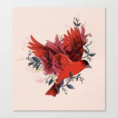 Blooming Bird Canvas Print
