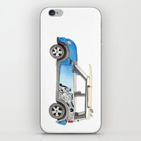 mini cooper iPhone & iPod Skins featuring Magnificent Mini Cooper by Fuzzy Art