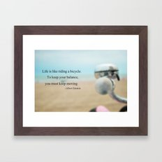 Life is Like Riding a Bicycle Framed Art Print