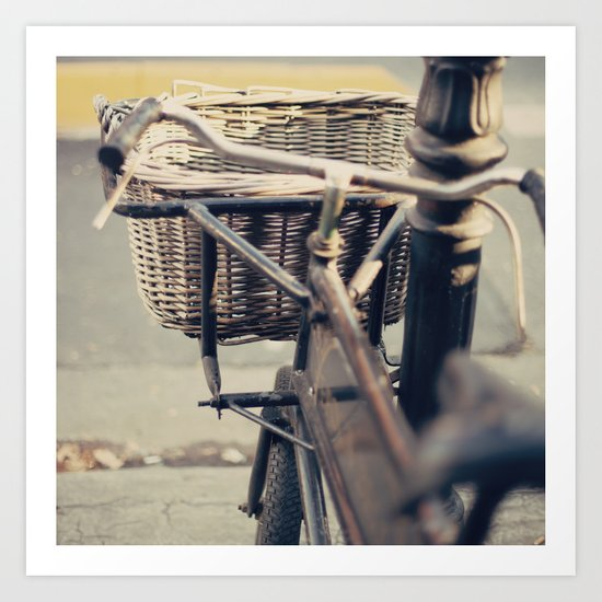 Old Bicycle (Retro - Vintage Photography) Art Print