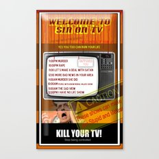 Sin TV Canvas Print