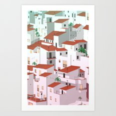 Sunset in my town Art Print
