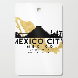 MEXICO CITY MEXICO SILHOUETTE SKYLINE MAP ART Cutting Board