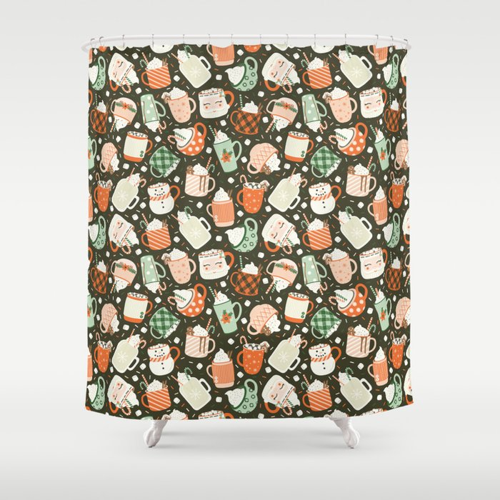 Christmas Cocoa Shower Curtain