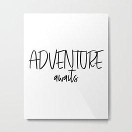 Adventure Awaits Wall Decor, Digital Art Metal Print