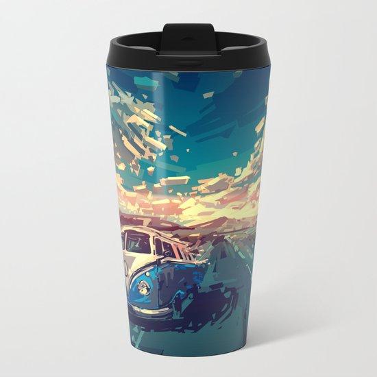 summer road landscape Metal Travel Mug