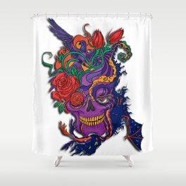 Violet carve Shower Curtain