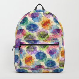 Funnel Flower Pattern Backpack