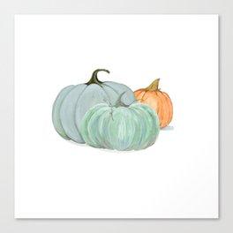 Colorful pumpkin trio Canvas Print