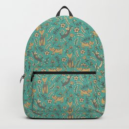 Cute cats. Blue pattern Backpack