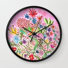 HAPPY FLOWERS Wall Clock