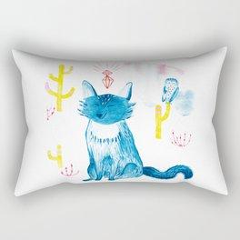 Crystal Desert Wolf Rectangular Pillow
