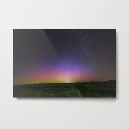 Colorful Aurora Borealis Night Sky Metal Print