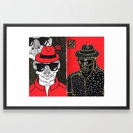 Black Yellow Red Framed Art Print