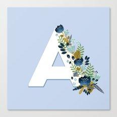 Floral alphabet Canvas Print