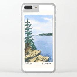 William #2 Clear iPhone Case