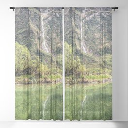 Earthy Mountain Stream // Hiking Bliss Incredible Views of the Beautiful Mountainscape Sheer Curtain