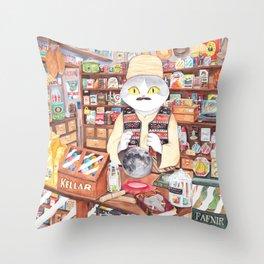 cat store Throw Pillow