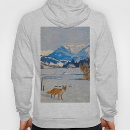 Jugend-Munich illustrated weekly for art and life - 1906 Cold Climate Snow Mountains Fox Hoody