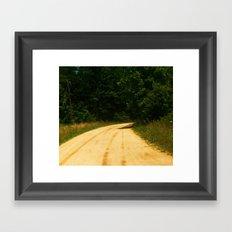 country raod Framed Art Print