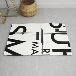 History of Art in Black and White. Suprematism Rug