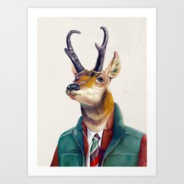 Pronghorn Deer Art Print