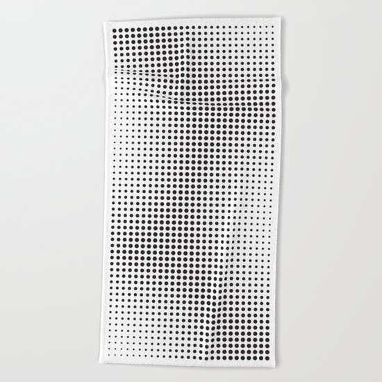 Full Configuration Black Raster - Optical game 13 Beach Towel