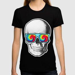 Psychadelic Skull Tiedye glasses T-shirt