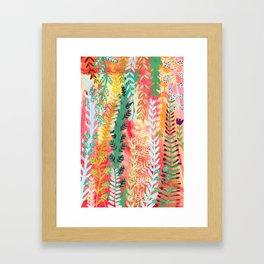 Hot Summer Flora Framed Art Print