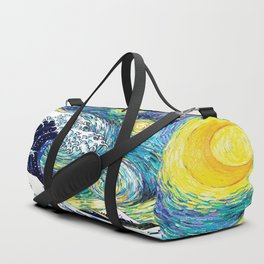 Starry Wave Night Duffle Bag