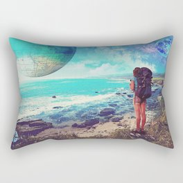 Visions of wanderlust Rectangular Pillow