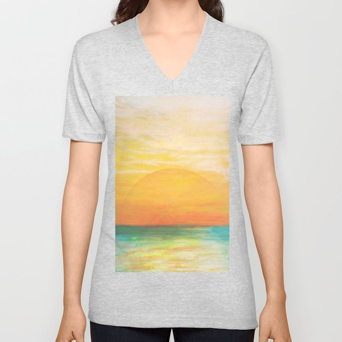 Summer Sunset Unisex V-Neck