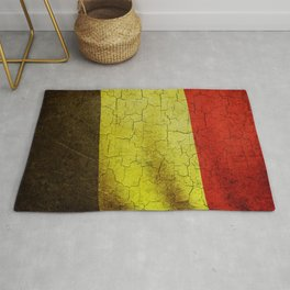 Cracked Belgium flag Rug
