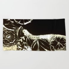 White Ink Beach Towel