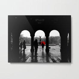 Bethesda Terrace Red Metal Print