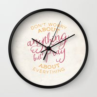 pocketfuel Wall Clocks featuring PRAYER OVER WORRY by Pocket Fuel