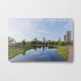 Lincoln Park Blue Sky Mornings Metal Print