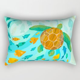 Song of the Sea Turtle Rectangular Pillow