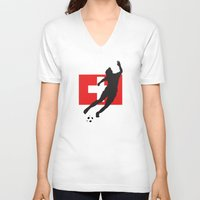 switzerland V-neck T-shirts featuring Switzerland - WWC by Alrkeaton