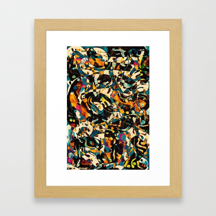 Pattern № 100 Framed Art Print