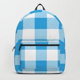 Blue Gingham Pattern Backpack