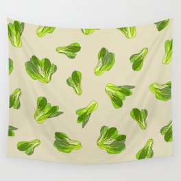 Lettuce Bok Choy Vegetable Wall Tapestry