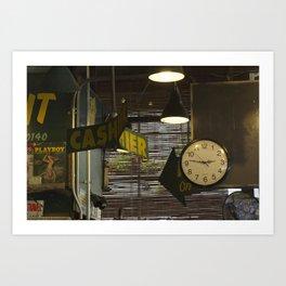 Cashier 2:46 Art Print
