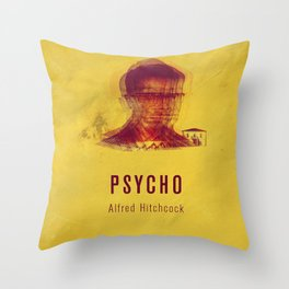 PSYCO - Hitchcok Poster Throw Pillow