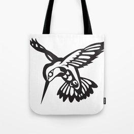 Hummingbird black on white Tote Bag
