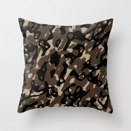 Camouflage Abstract Throw Pillow