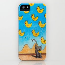 Duck Duck Cat iPhone Case