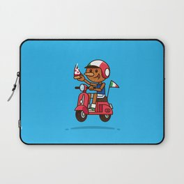 Italy! Pinocchio Eat Pizza and Ride Vespa Laptop Sleeve