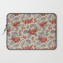 Bunch of ripe red aronia berries Laptop Sleeve